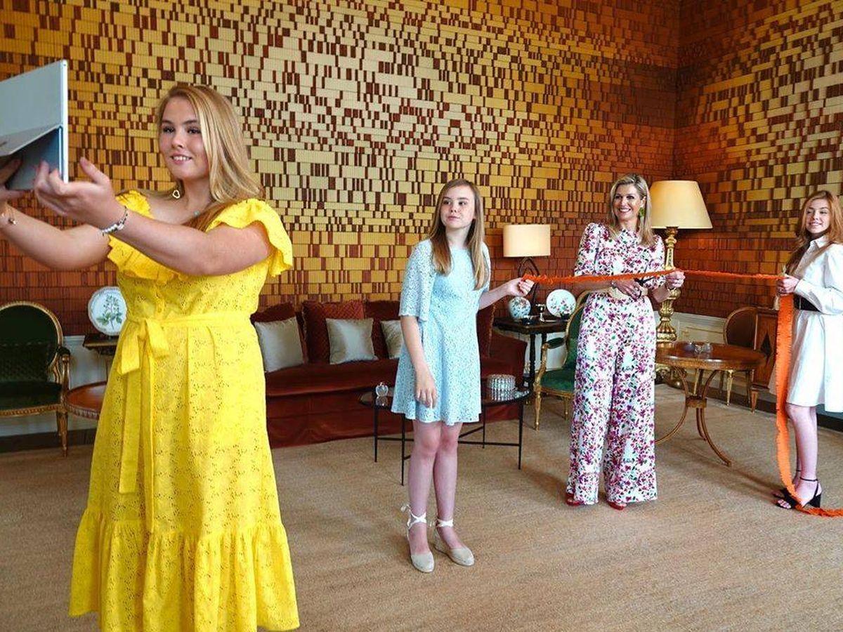 Foto: La reina Máxima y sus hijas. (Koninklijk Huis)