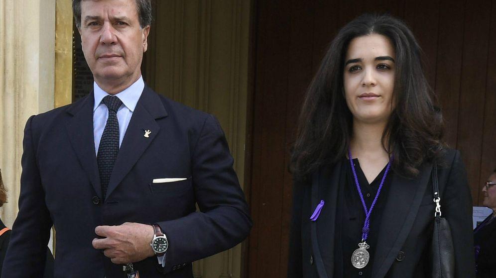 Foto:  Cayetano y su novia, Bárbara Mirjan. (Cordon)