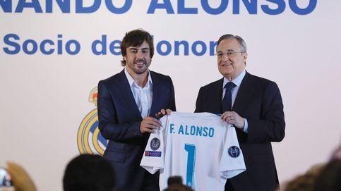 Fernando Alonso recibe la distinción de socio de honor del Real Madrid