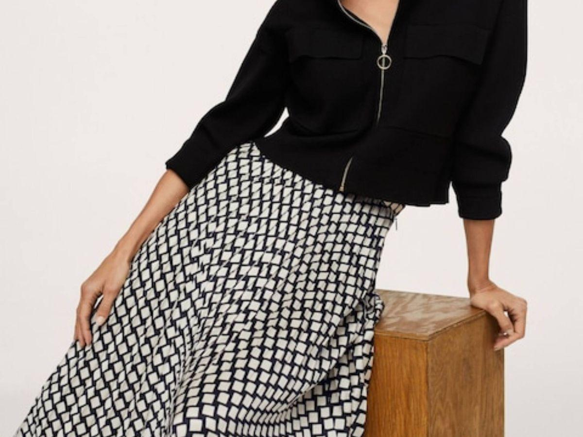 Foto: La falda estampada de Mango. (Cortesía)