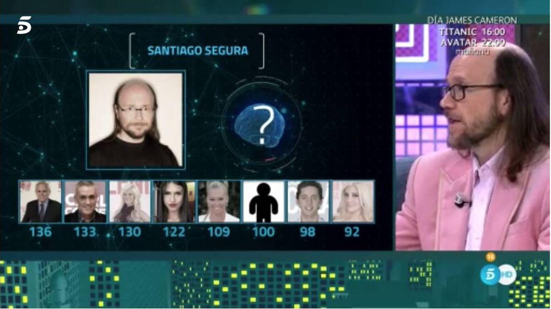 Santiago Segura, durante el resultado de su test de inteligencia.