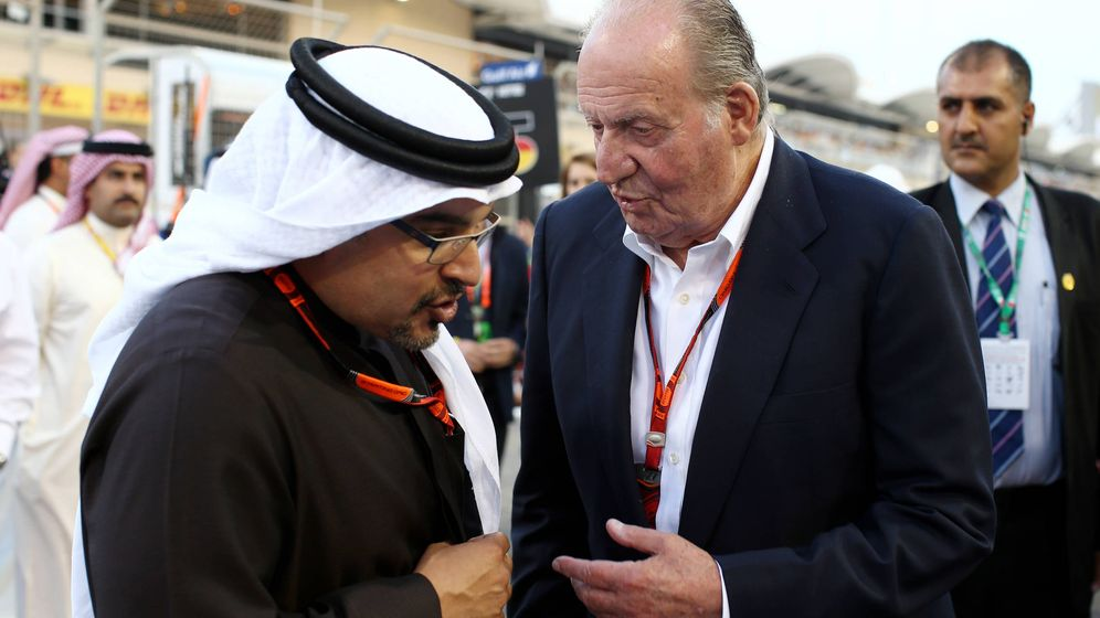 Foto: El rey Juan Carlos con el emir de Baréin. (Getty)