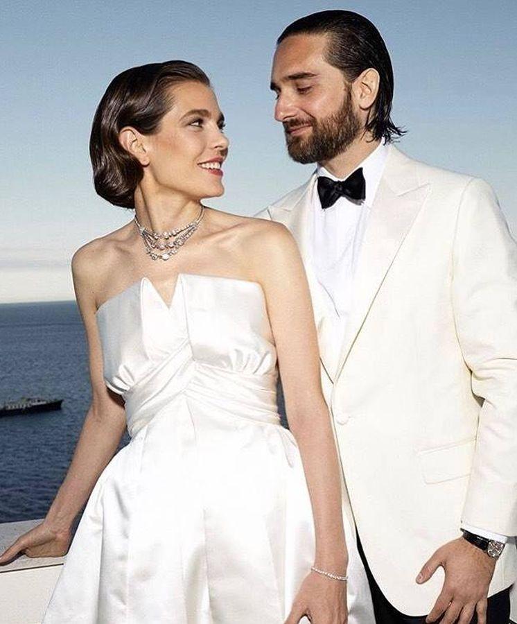 Foto: Carlota y Dimitri, el día de su boda. (Fotos oficiales)