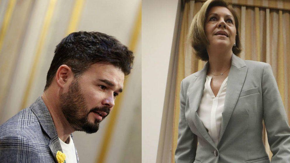 Rufián y Cospedal se enzarzan: ¿Quién es M. Rajoy?