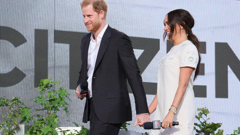 Harry y Meghan, en el Global Citizen Live. (Getty)