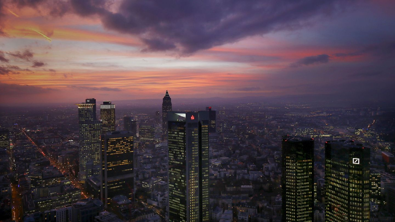 El skyline del distrito financiero de Fráncfort, Alemania, el 26 de enero de 2016. (Reuters)