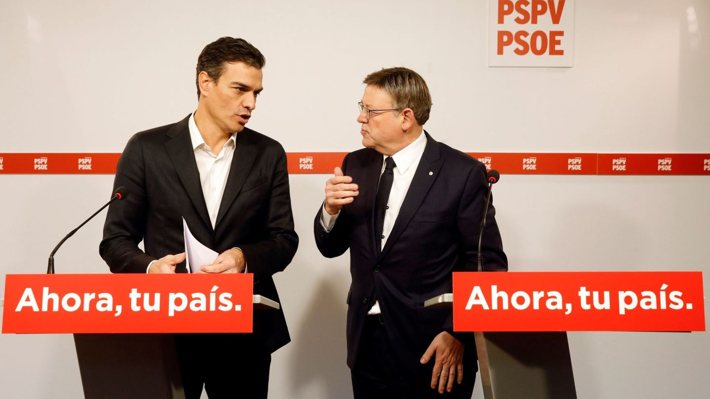 Pedro Sánchez y Ximo Puig. (EFE)