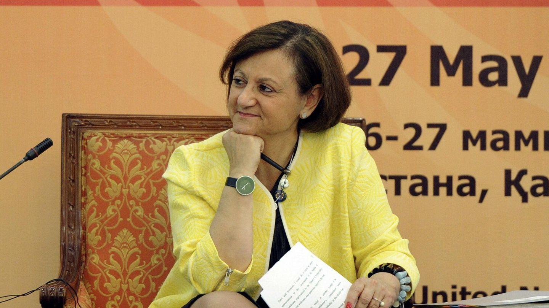 Cristina Gallach, en mayo de 2015 en Astaná, Kazajistán. (EFE)