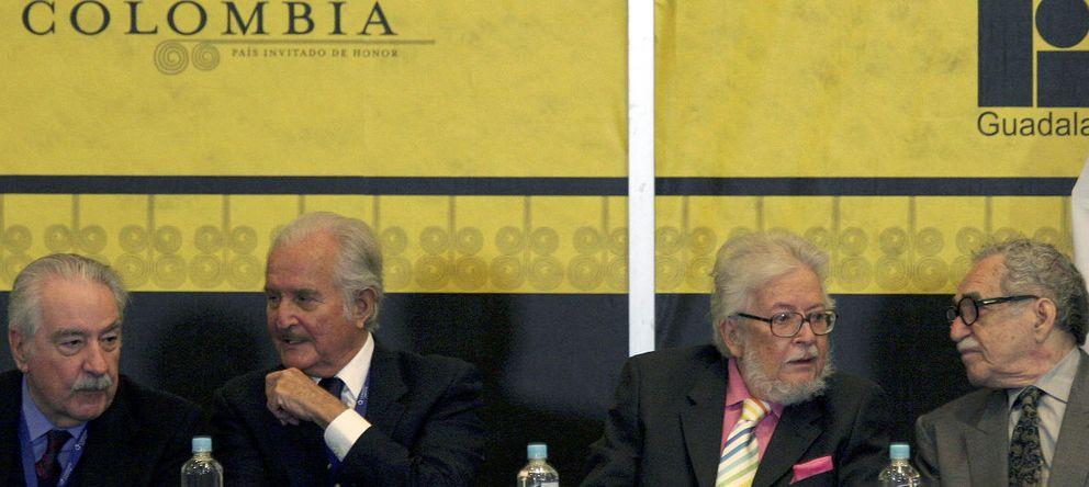 Foto: De izquierda a derecha: Álvaro Mutis, Carlos Fuentes, Fernando Del Paso, Gabriel García Márquez, en la Feria del Libro de Guadalajara de 2007. (Reuters)