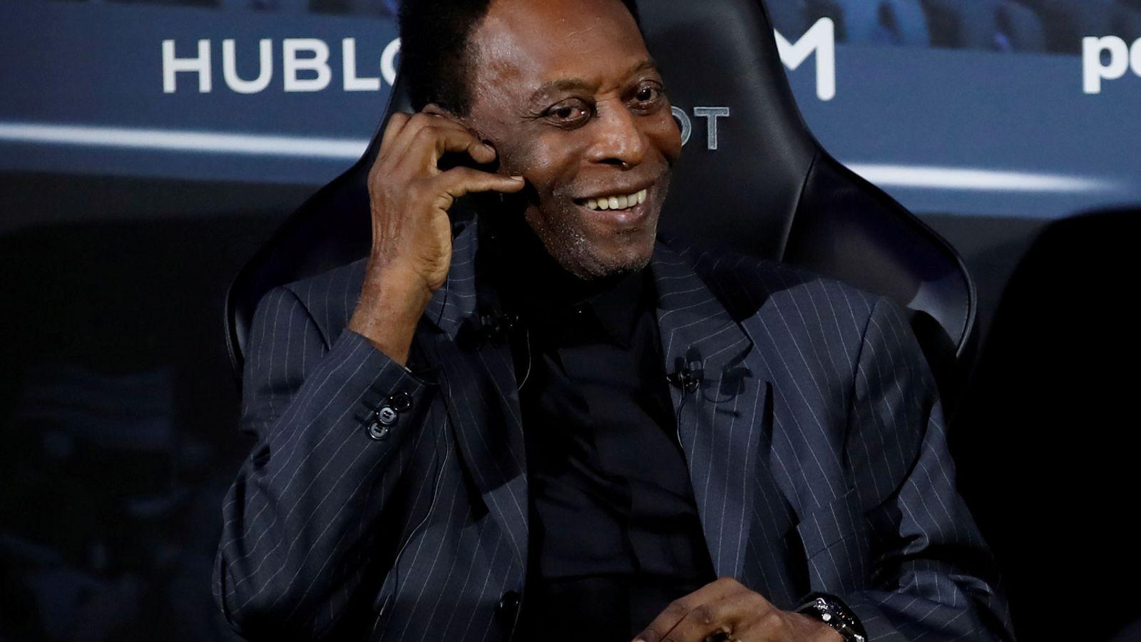 Foto: Pelé estuvo a principios de mes en París, donde realizó un acto publicitario junto a Mbappé. (Reuters)