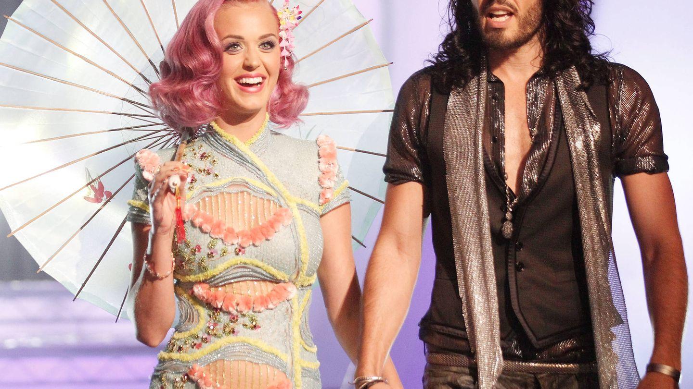 Katy Perry y Russell Brand, en 2011. (Getty)