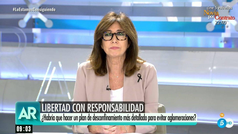Ana Rosa Quintana vuelve a la televisión. (Mediaset)