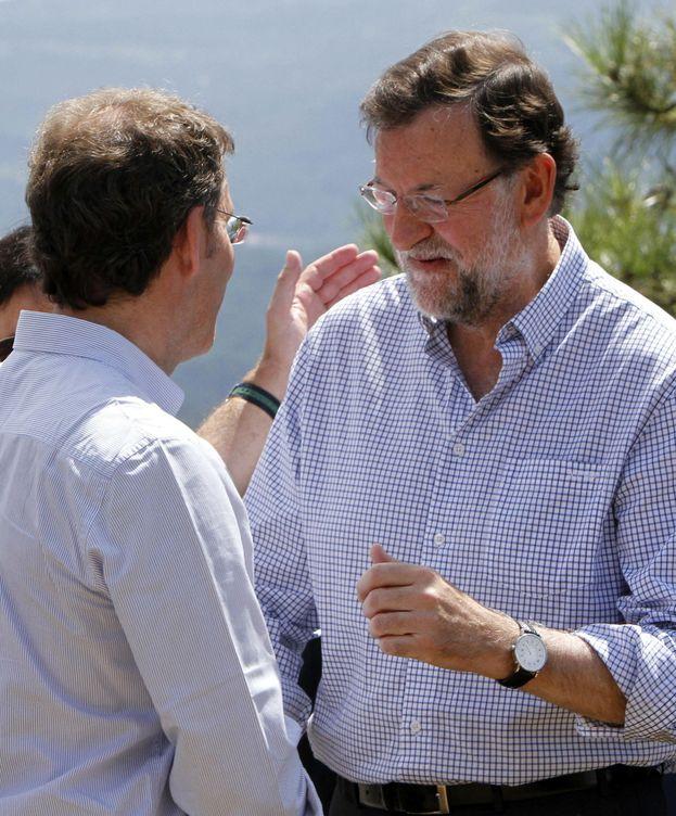 Foto: El presidente del Gobierno Mariano Rajoy , acompañado del presidente de la Xunta Alberto Núñez Feijoo. (EFE)