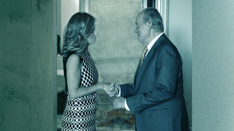 Foto:  La exministra de Ciencia e Innovación con el Gobierno socialista de Zapatero, Cristina Garmendia, y el rey emérito Don Juan Carlos de Borbón