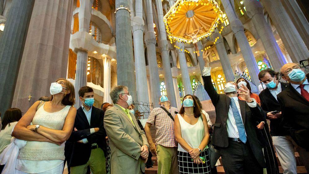 Foto: Reapertura de las visitas a la Sagrada Familia de Barcelona. (EFE)
