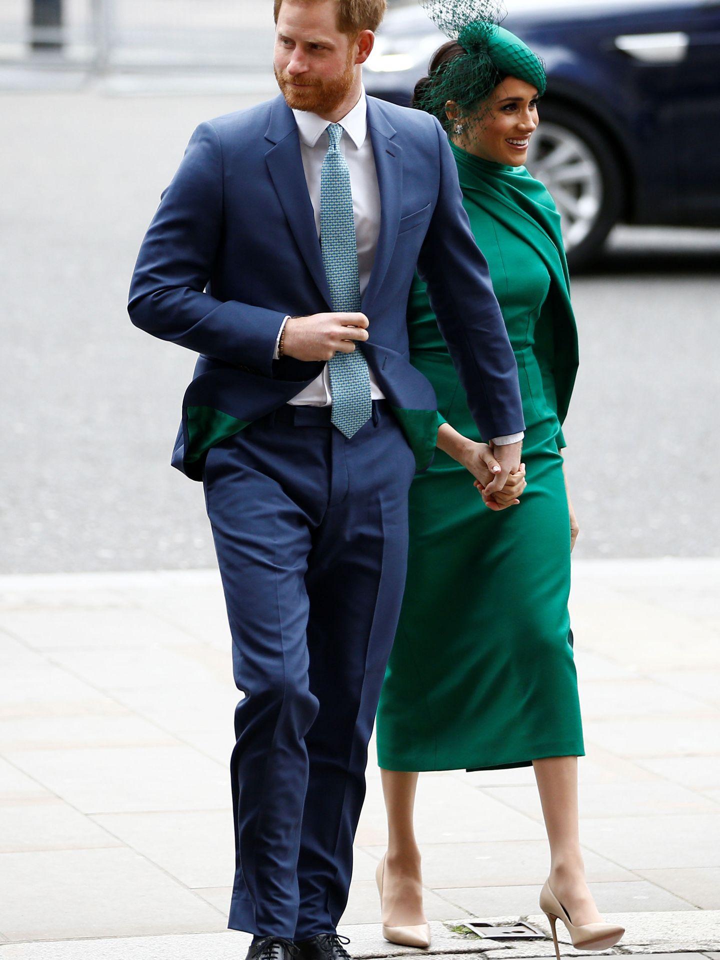 Los duques de Sussex, en el acto.(Reuters)