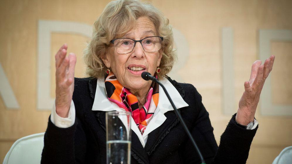 Foto: Manuela Carmena, en una rueda de prensa en el Palacio de Cibeles. (EFE)
