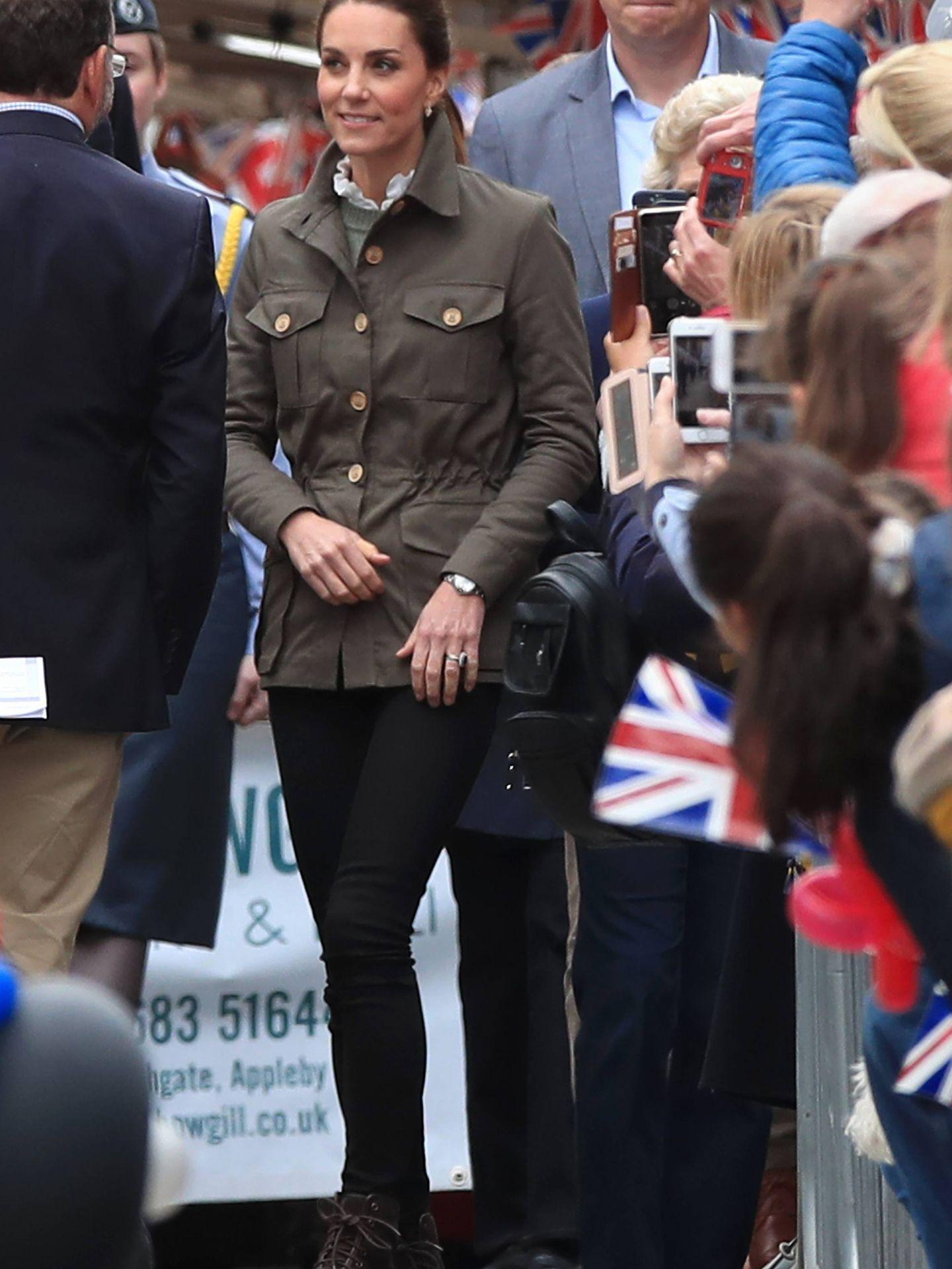 La duquesa de Cambridge, este martes en su visita a Cumbria. (Cordon Press)