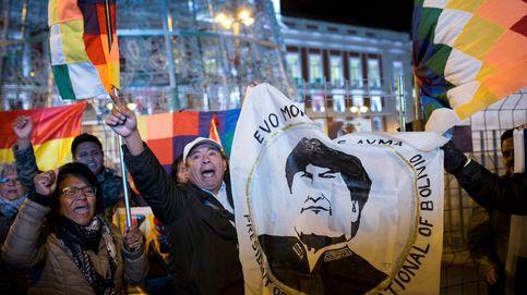 Apoyo a Evo Morales en la Puerta del Sol
