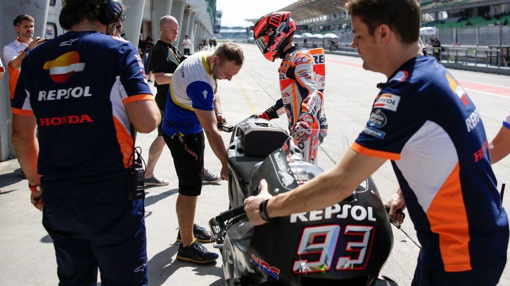 Foto: Marc Márquez fue el más rápido en la primera jornada de los test de Sepang. (EFE)