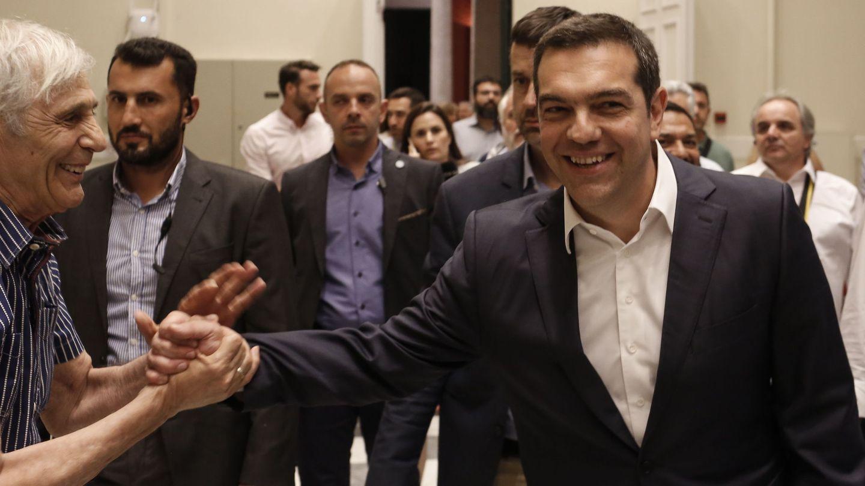 Alexis Tsipras, durante la jornada de elección. (EFE)