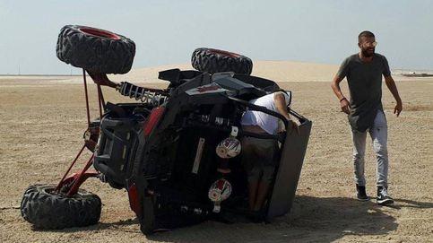 El aparatoso accidente de Piqué en el desierto de Qatar: vuelca con un buggy