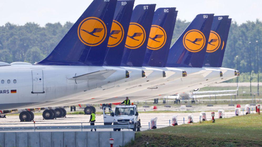 Foto: Aviones de la alemana Lufthansa. Foto: Reuters.