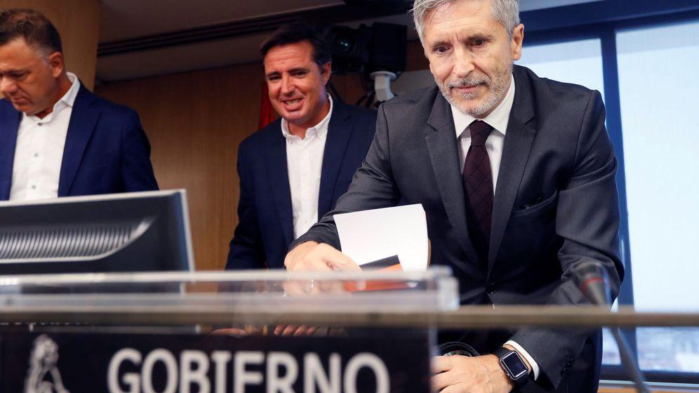 Foto: El ministro del Interior, Fernando Grande-Marlaska, en el Congreso de los Diputados el pasado 29 de agosto. (EFE)