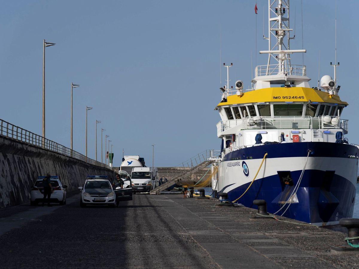 Foto: El buque oceanográfico Ángeles Alvariño. (EFE)