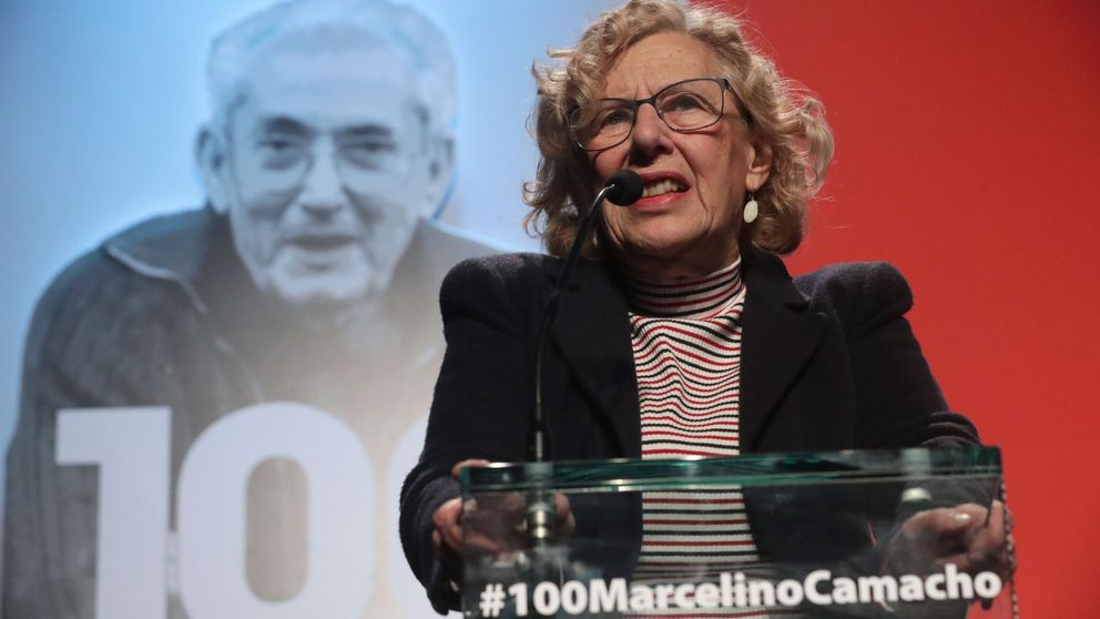 Carmena se 'estira' con Marcelino: placa, calle y estatua