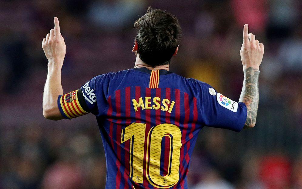 Foto: Lionel Messi celebra un gol en la primera jornada de liga (Reuters)