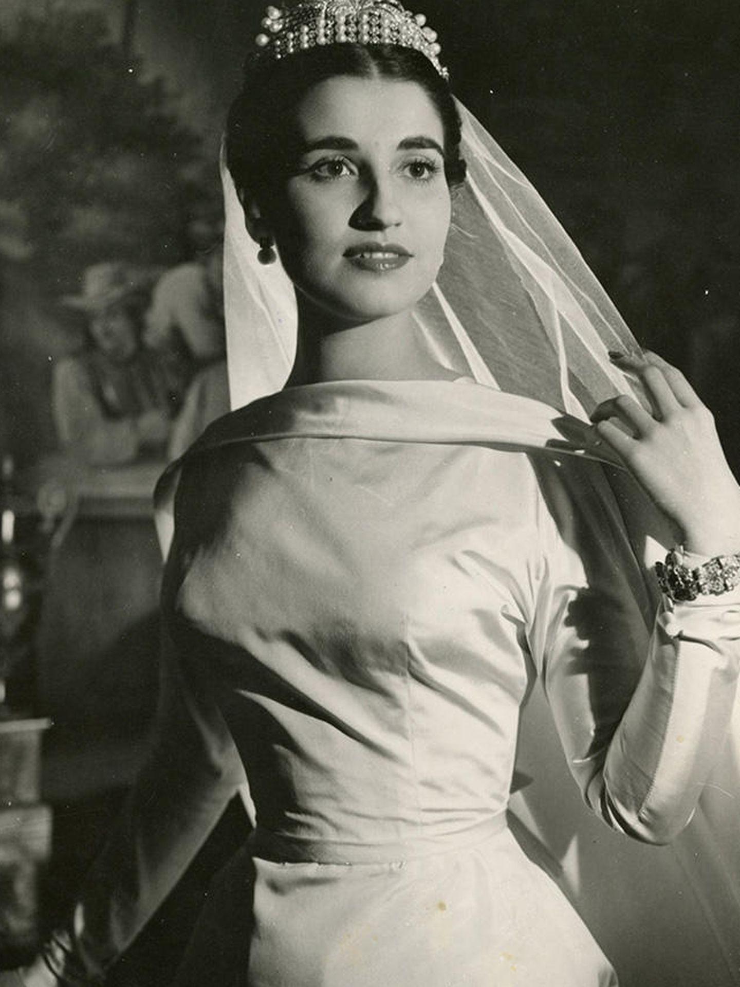 Carmen Franco, el día de su boda. (EFE)
