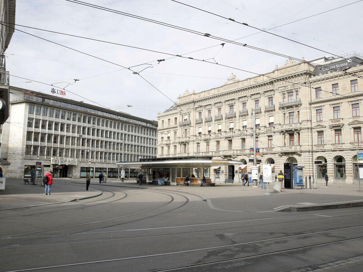 Foto: Oficinas de UBS y Credit Suisse en Zúrich. (Reuters)