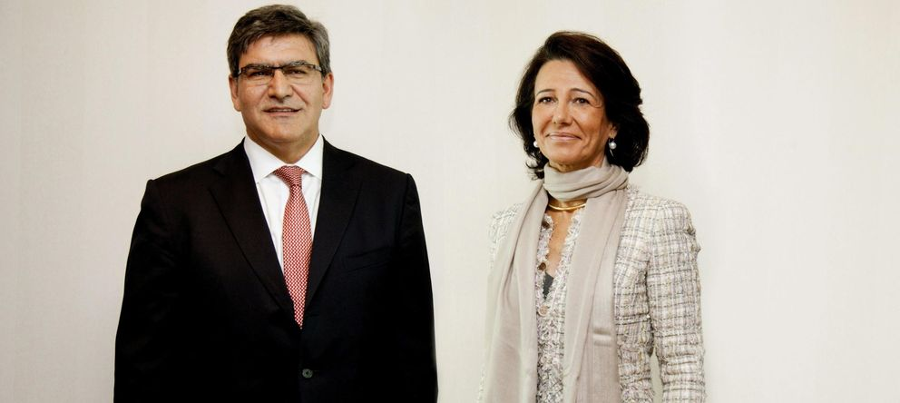 Foto: La presidenta del Banco Santander, Ana Patricia Botín, y el nuevo consejero delegado, José Antonio Álvarez. (EFE)