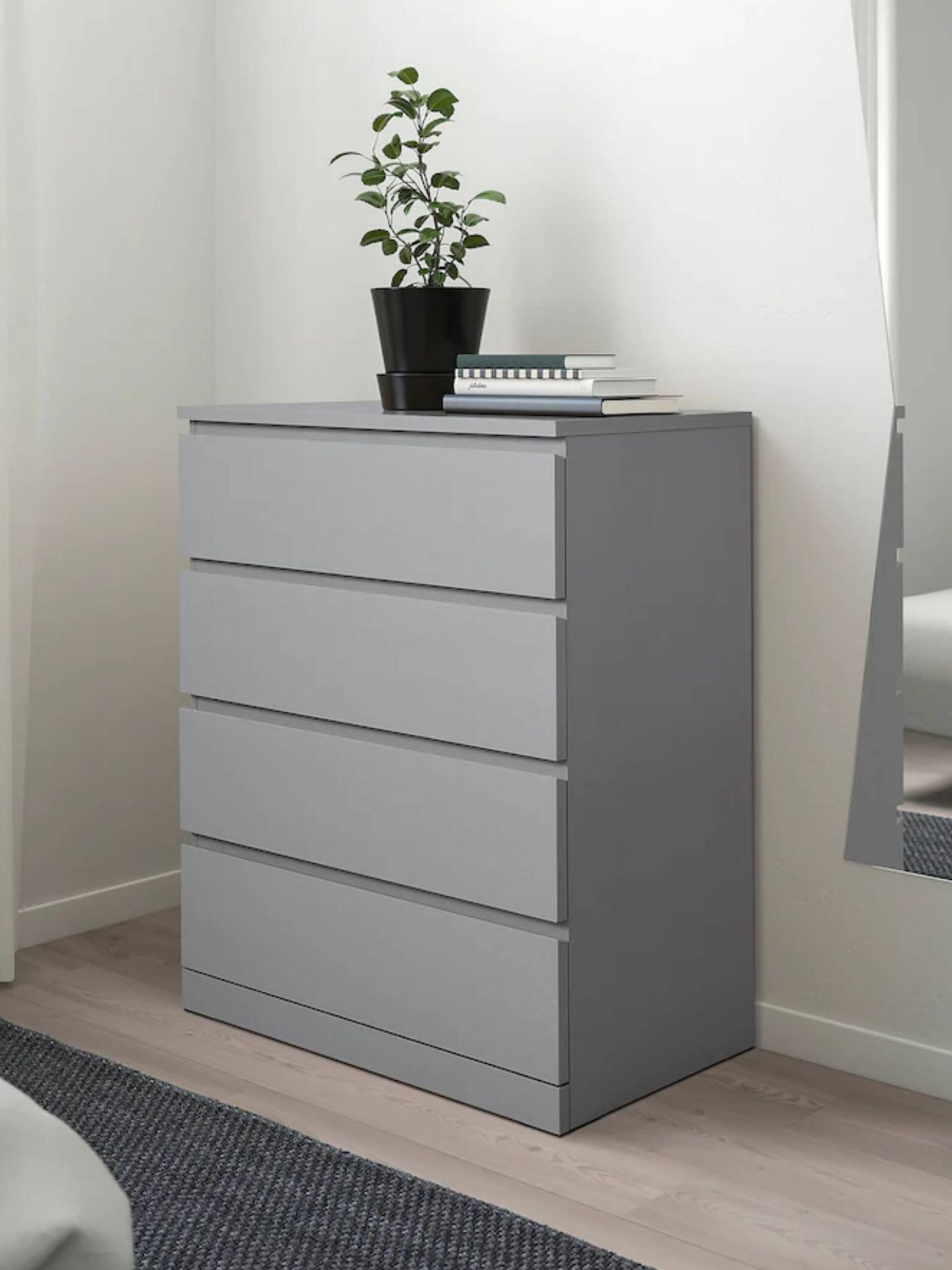 Cómoda de Ikea para dormitorios pequeños. (Cortesía)