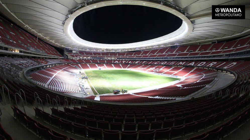 Foto: El Wanda Metropolitano ya tiene césped.