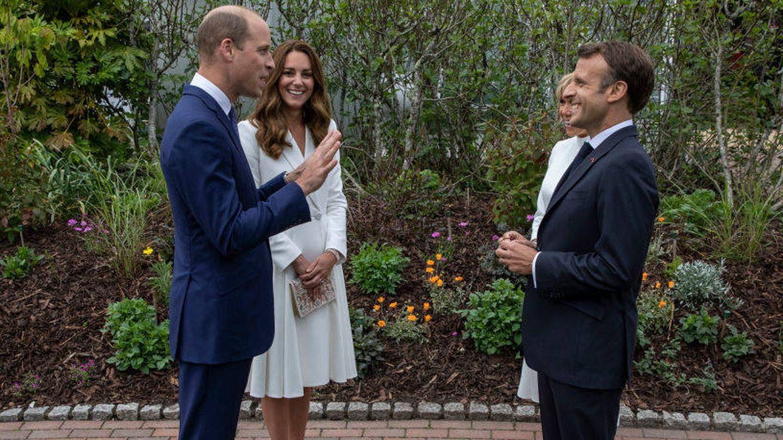 Los duques de Cambridge con Emmanuel Macron y su mujer, Brigitte Macron. (Getty)