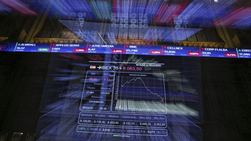 El rebote de la banca en Europa tiñe de verde los mercados y eleva al Ibex un 2,73%