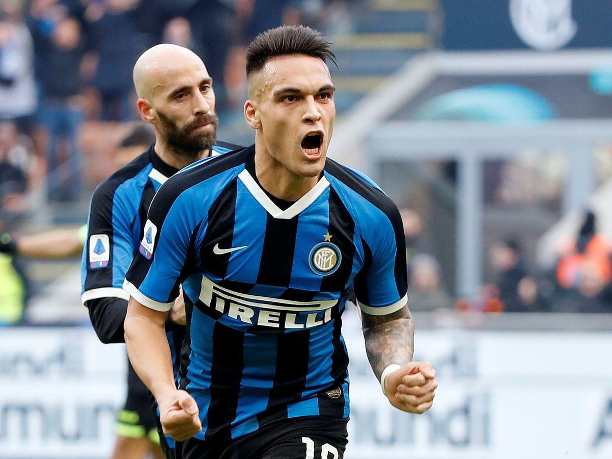 Foto: Lautaro Martínez celebra un gol en un partido del Inter de Milán. (Efe)