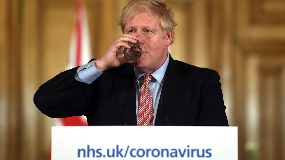 Foto: Rueda de prensa sobre el coronavirus en Reino Unido. (EFE)