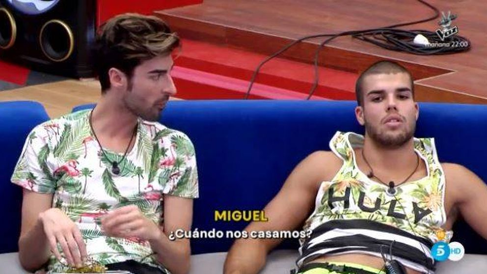 El trío amoroso entre Pol, Miguel y Adara en 'Gran hermano 17'