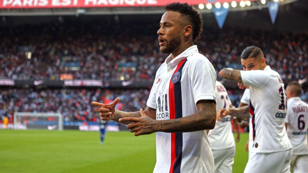 Foto: Neymar, tras marcar el gol de la victoria del PSG en el descuento. (EFE)