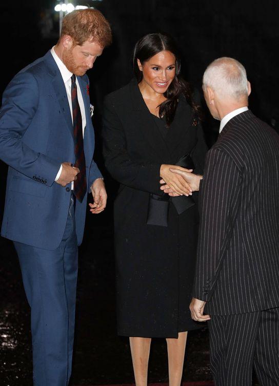 Foto:  Harry y Meghan, en el Royal Albert Hall. (Getty)