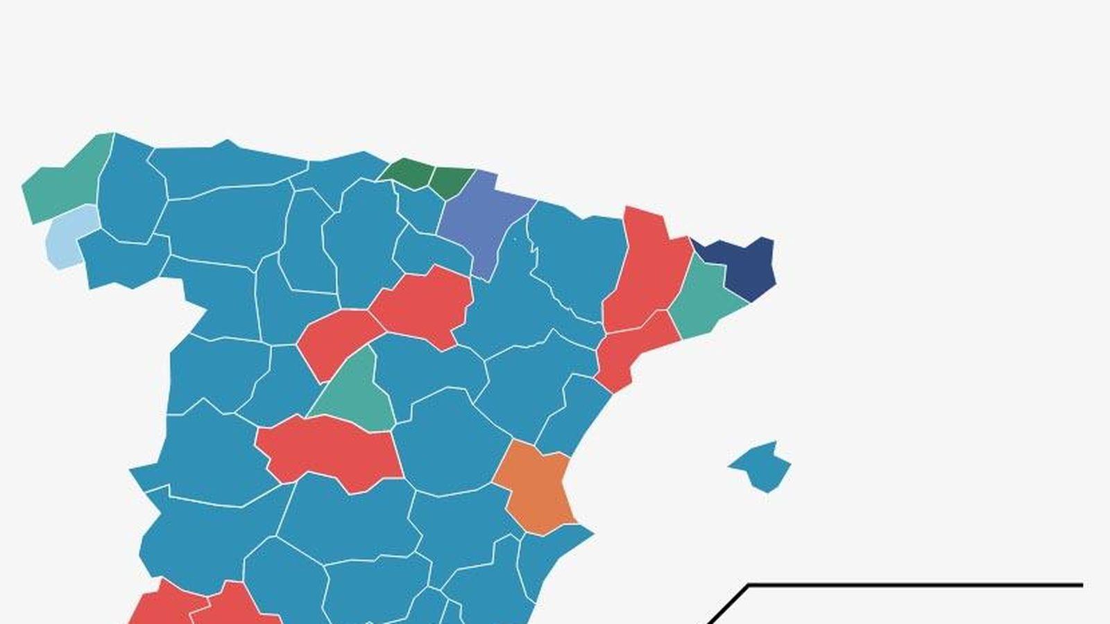 Mapa De Elecciones 2015.Resultados Electorales Busca Que Partido Ha Ganado En Tu