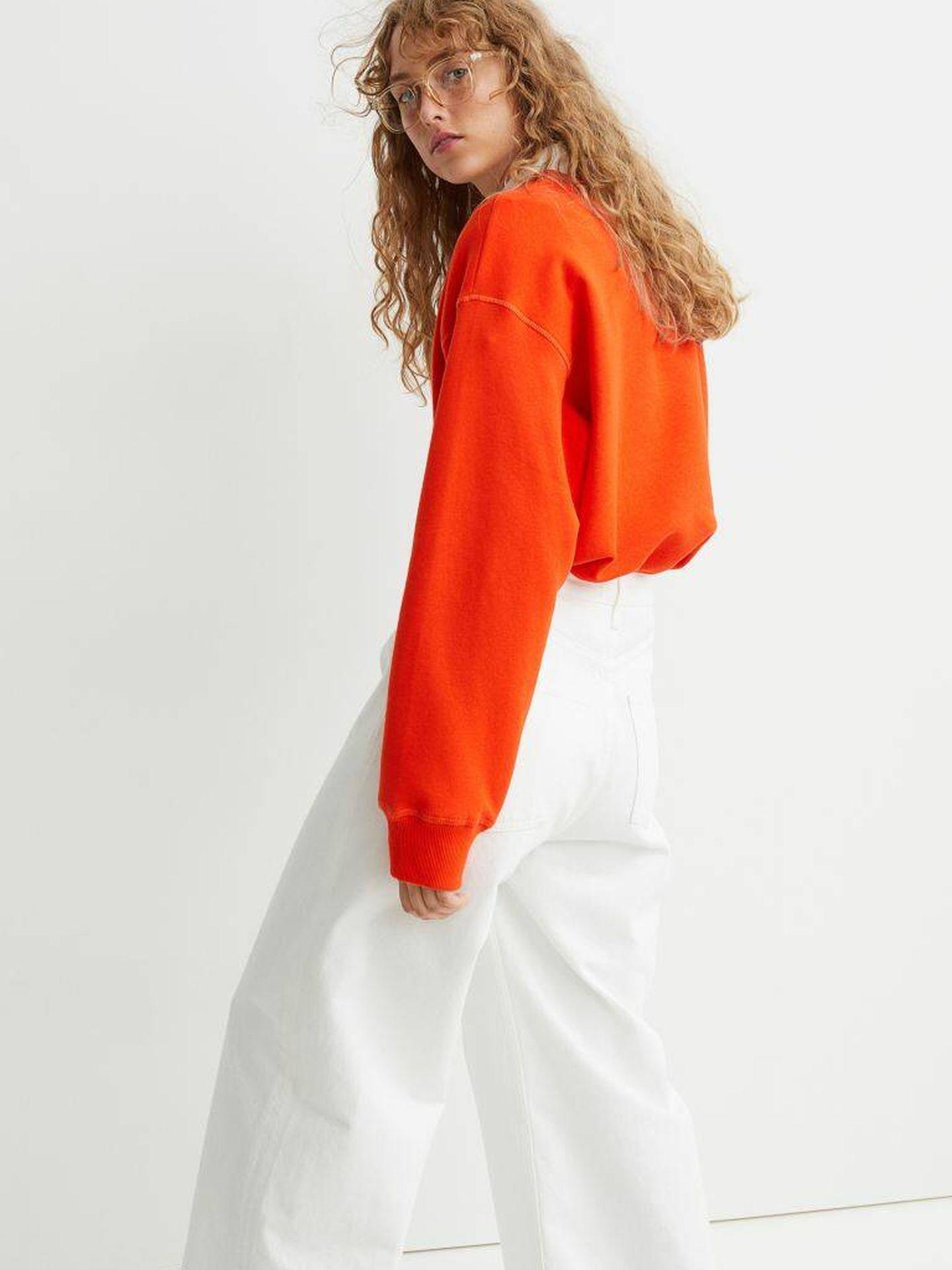El pantalón vaquero de color blanco de HyM. (Cortesía)