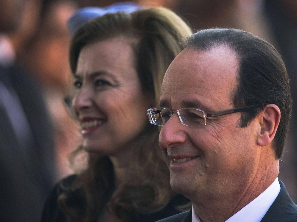 Foto:  Hollande, con su expareja, Valérie Trierweiler. (Getty)