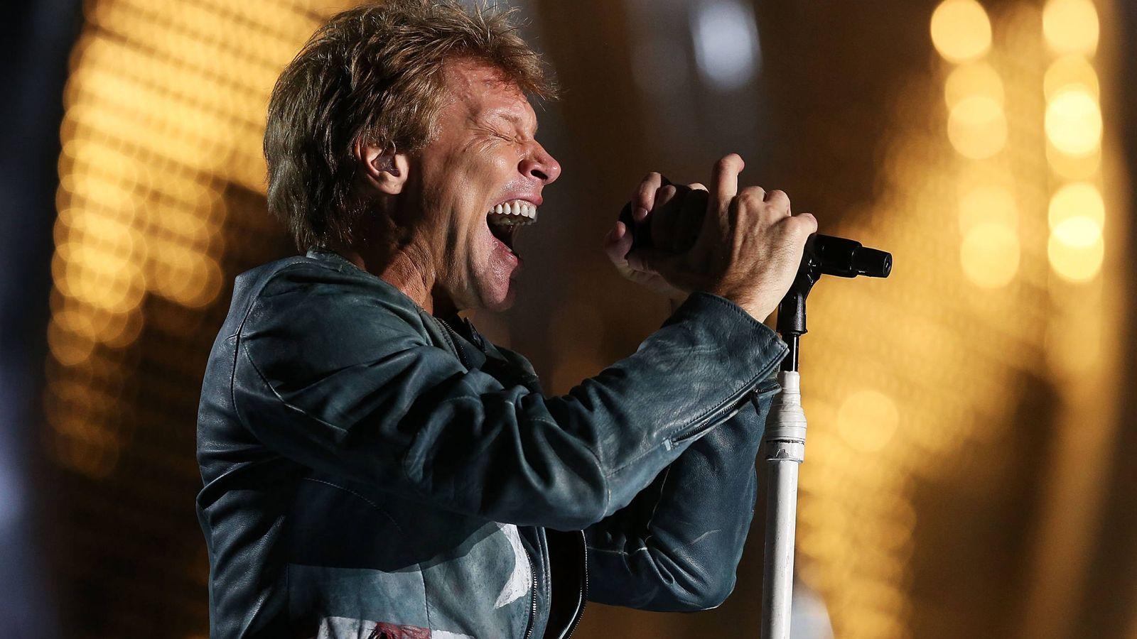 Foto: Jon Bon Jovi, en concierto. (Getty)
