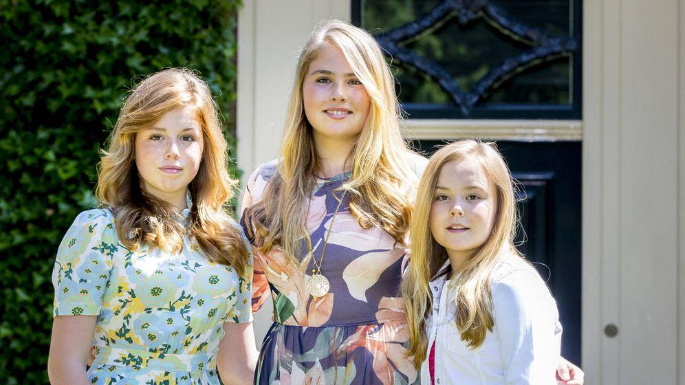 Foto: Amalia, Alexia y Ariane de Holanda en una imagen de archivo. (Getty)