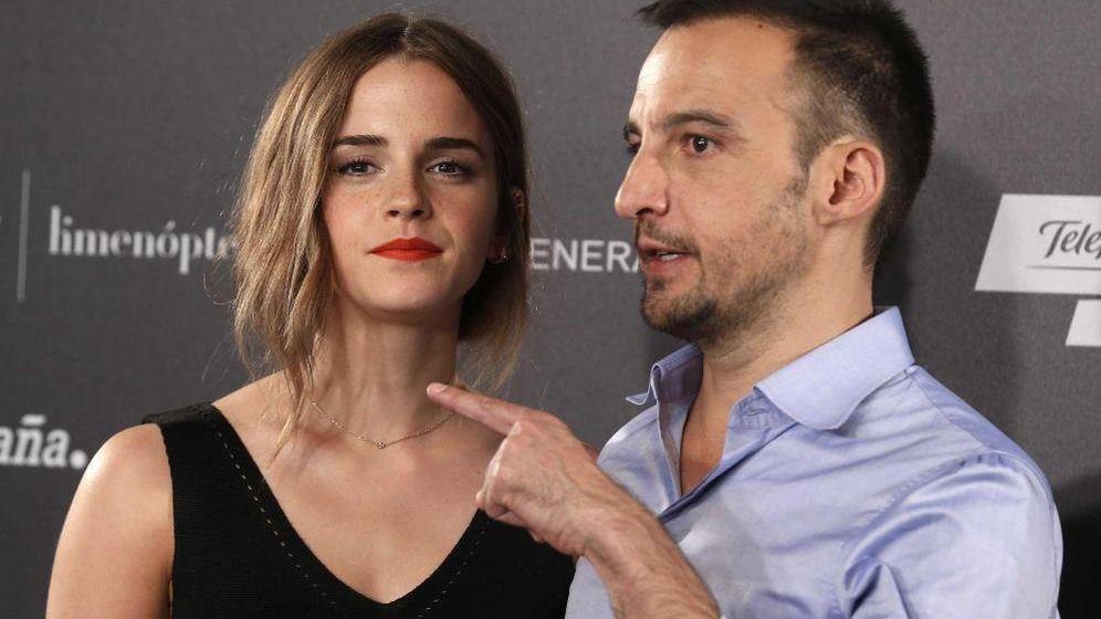 Foto: Emma Watson y Alejandro Amenábar en la presentación de 'Regresión'
