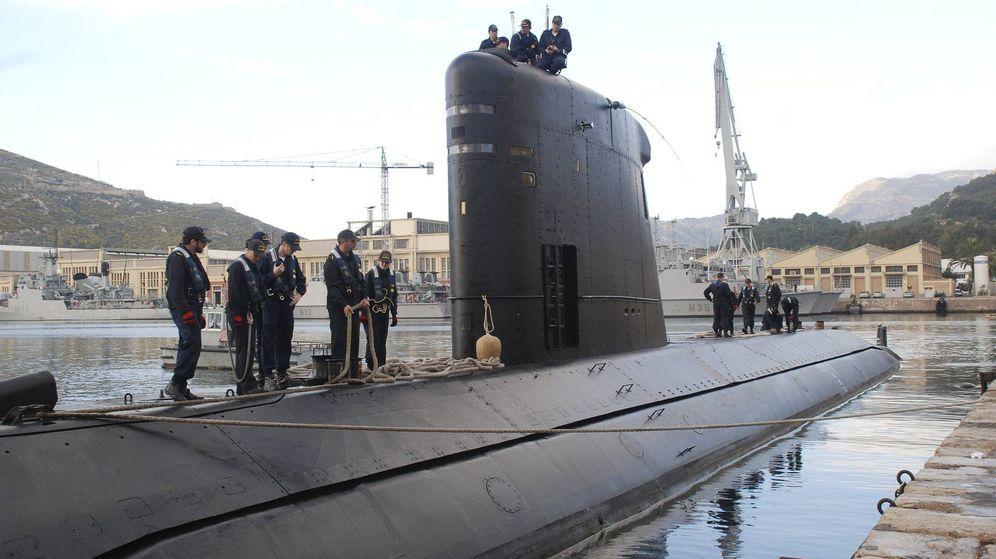 Foto: El submarino 'Tramontana', en su base de Cartagena (Murcia). (EFE)